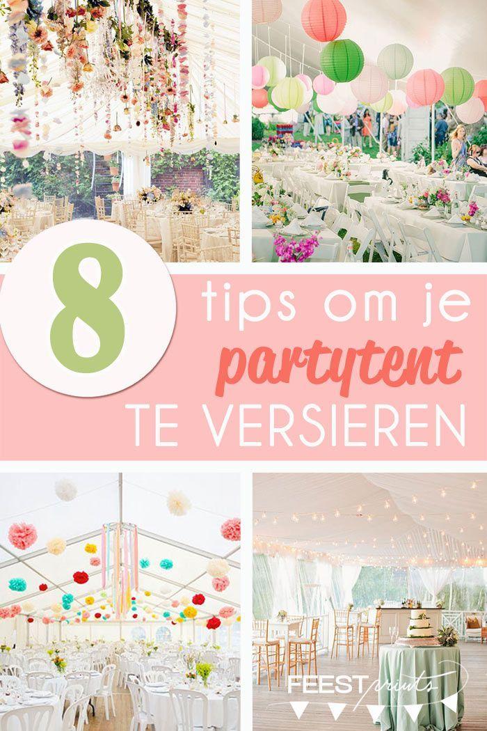 Decoratie tips voor de partytent   Trouwen.nl