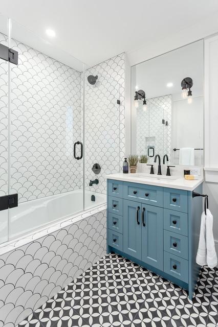 Shower Curtain Or Shower Doors Shower Doors Transitional