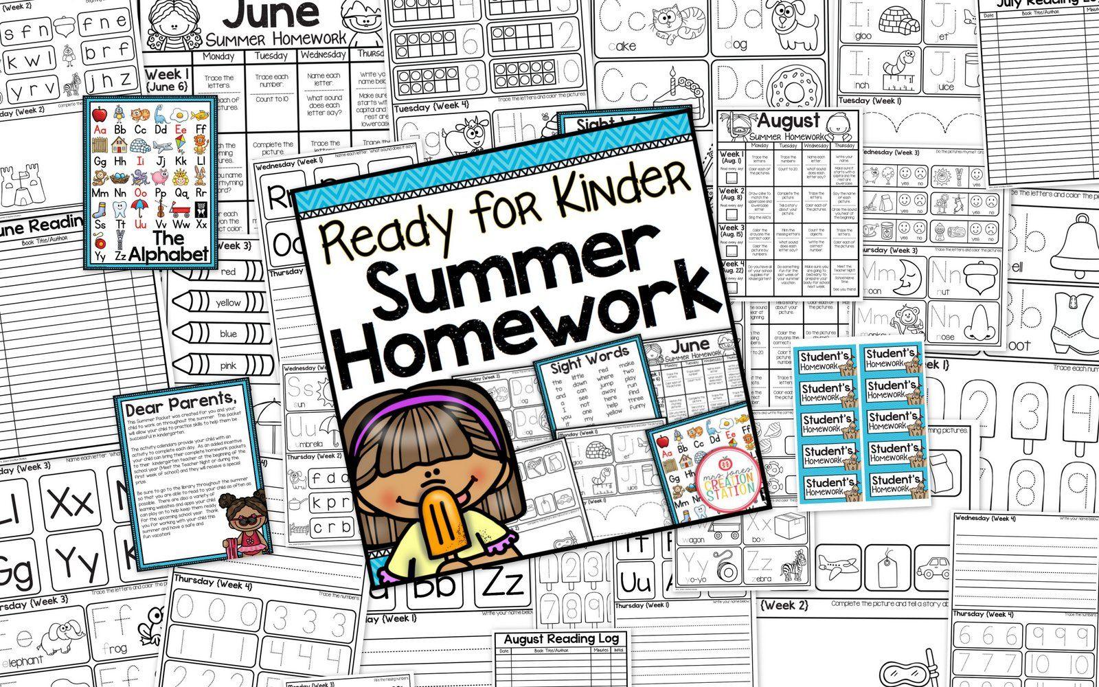 Kindergarten Readiness Summer Packet