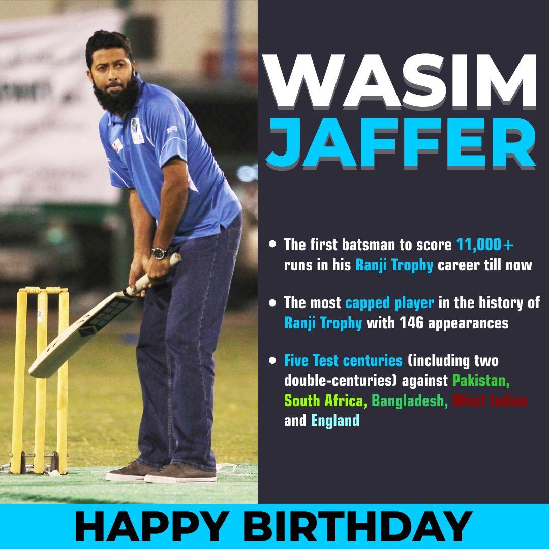 Sportsmatik wishes a very HappyBirthday to WasimJaffer