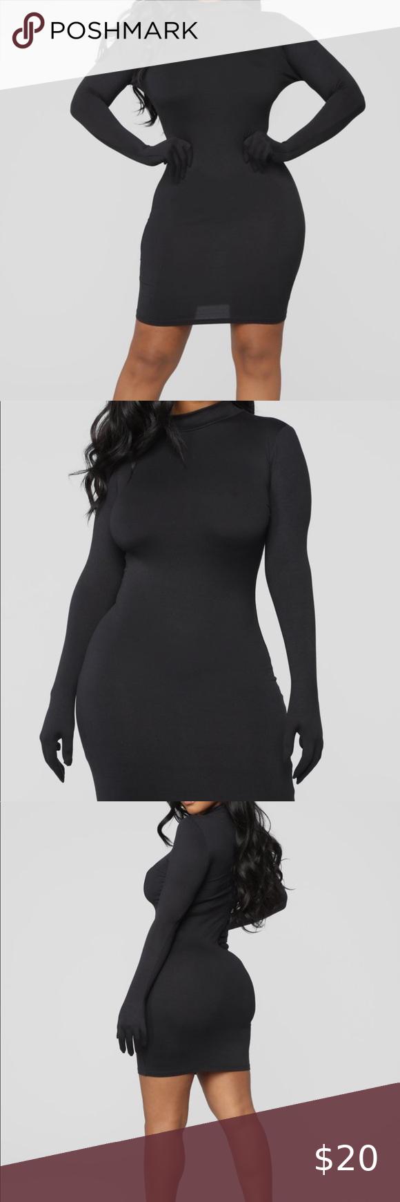 Fashionnova Black Dress Dress With Gloves Fashion Nova Fashion Nova Dress [ 1740 x 580 Pixel ]