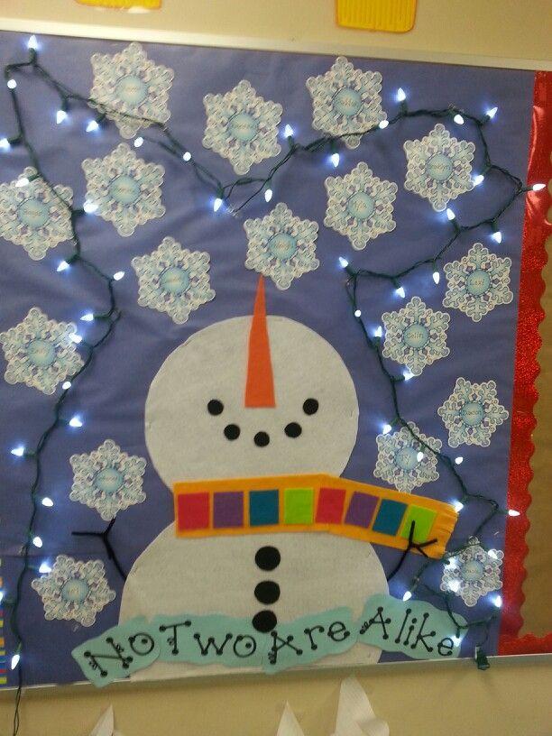 Winter Bulletin Board Student Names On Snowflakes Atlanta Life