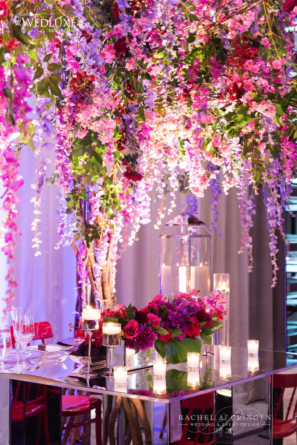wisteria-tree-wedding-four-seasons-toronto | purple, aubergine