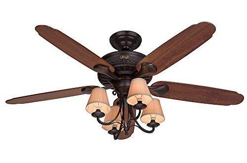 Hunter Fan 53094 Cortland Ceiling Fan With Five Dark