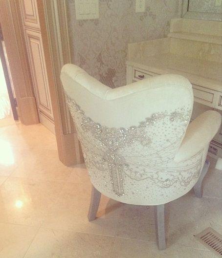 chairs for makeup vanity. Kim Zolciak Gets A Custom Made Crystal Studded Makeup vanity Chair