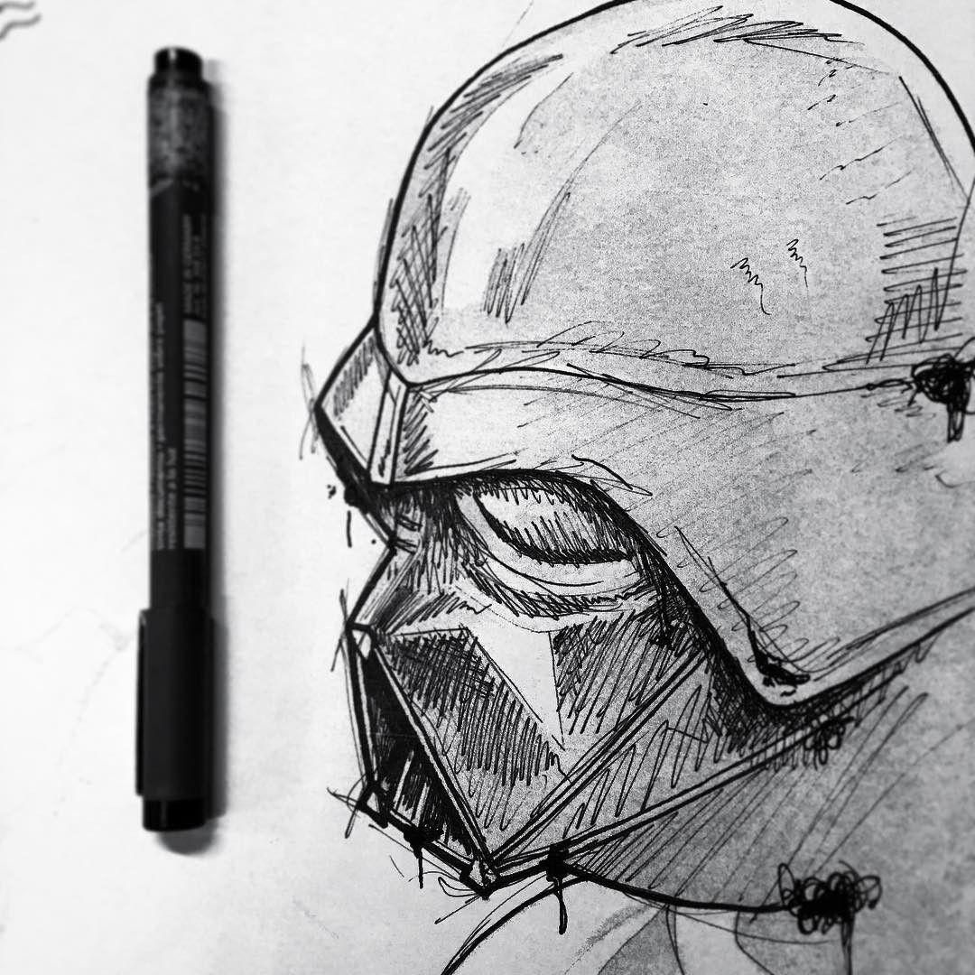 Desenho Em Preto E Branco Do Darth Vader. #desenho