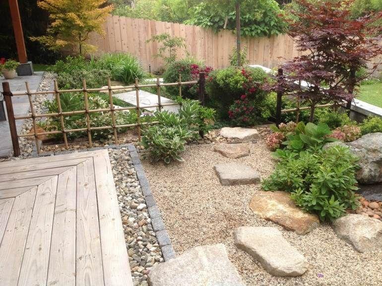 Steingarten-anlegen-Vorgarten-gestalten-japanisch-Zen-Kies