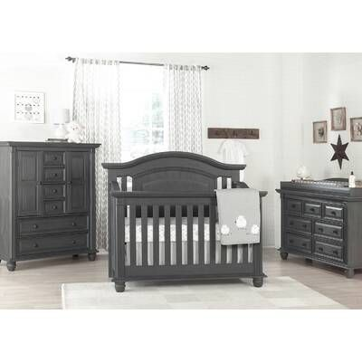 Redmond 4 In 1 Convertible Standard Crib And Changer Combo 3 Piece Nursery Furniture Set Baby Nursery Furniture Sets Baby Nursery Furniture Baby Furniture Sets