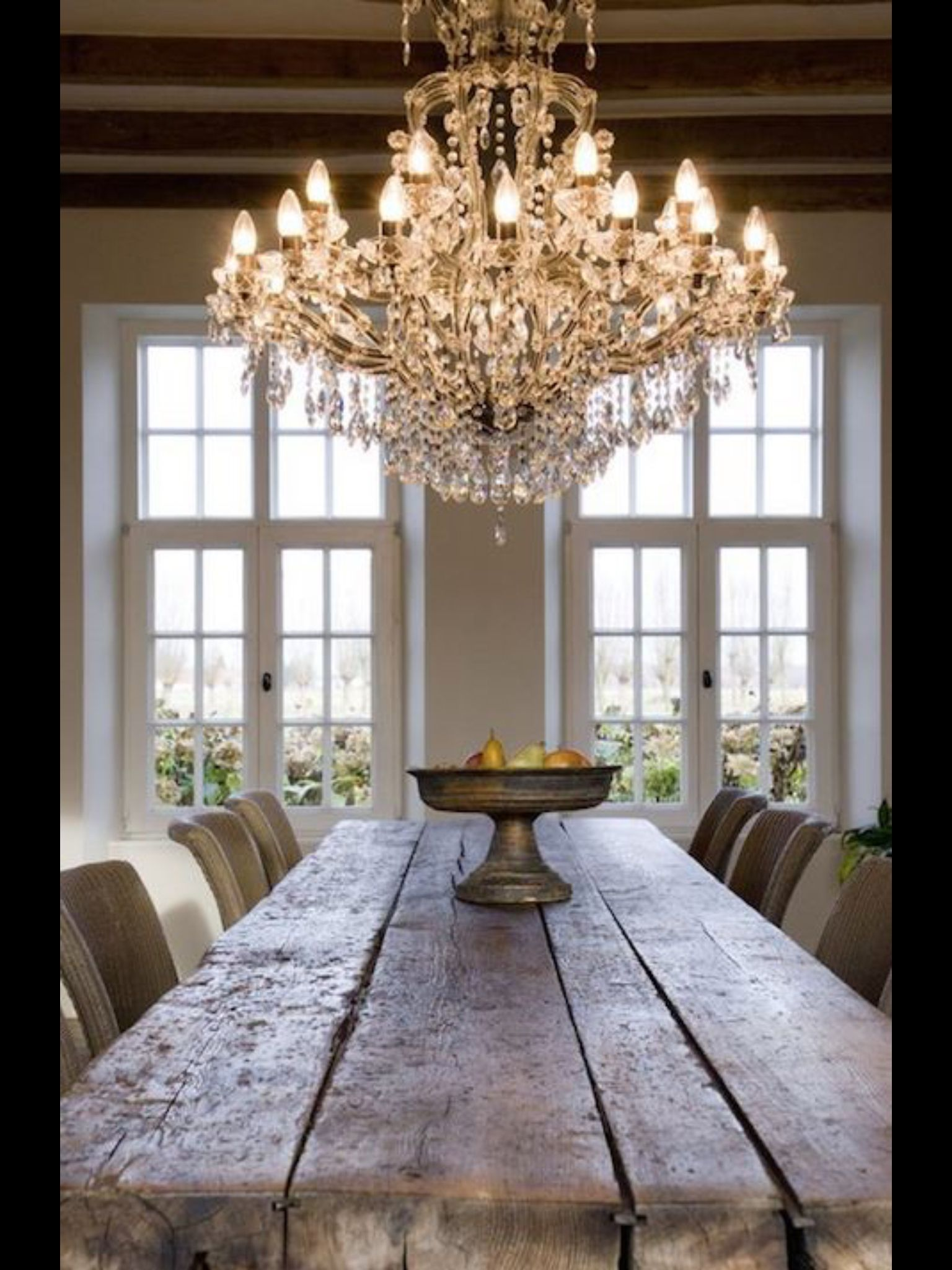 Rustic Elegance Shabby Home French Country Dining Room Rustic