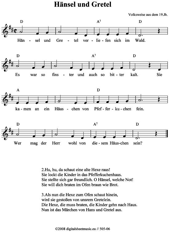 Das Lied Von Hänsel Und Gretel