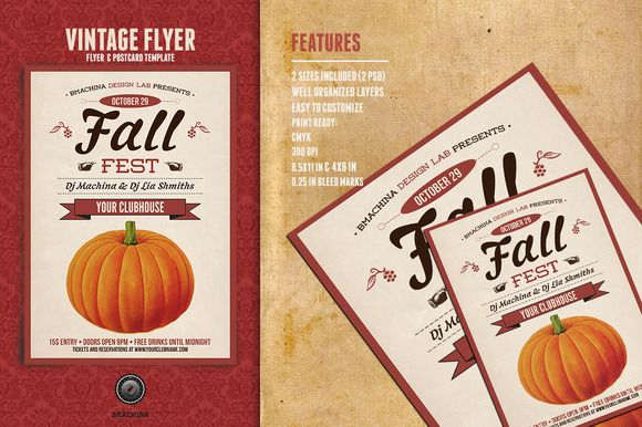 I just released Fall Fest Flyer on Creative Market.