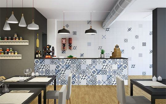 Плитка в стиле пэчворк для кухни и ванной комнаты