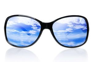 The health benefits of wearing sunglasses. Photokeratitis is one of them.