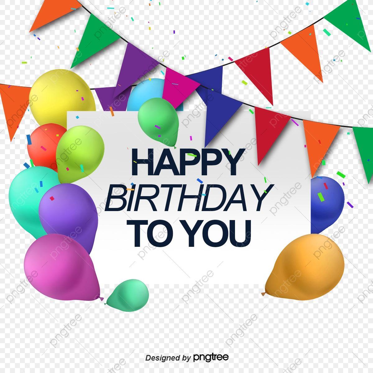 Gambar Vektor Happy Birthday Ingin Kad Kartu Ucapan Selamat Hari Jadi Belon Png Dan Psd Untuk Muat Turun Percuma Happy Birthday Greeting Card Happy Birthday Cards Happy Birthday