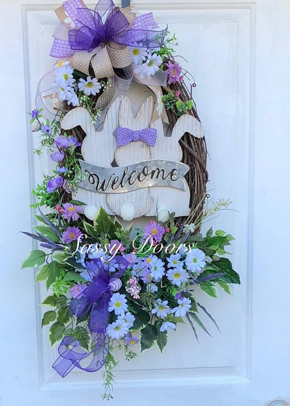Photo of Easter Wreath,Easter Bunny,Deco Mesh Wreath,Spring Wreath, Easter Wreath With Bunny, Sassy Doors Wreath, Easter Wreath For Front Door