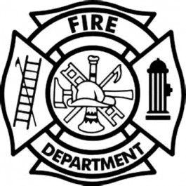 Fire Fighter Badge Decal Fire Dept Logo Firefighter Fire Wife