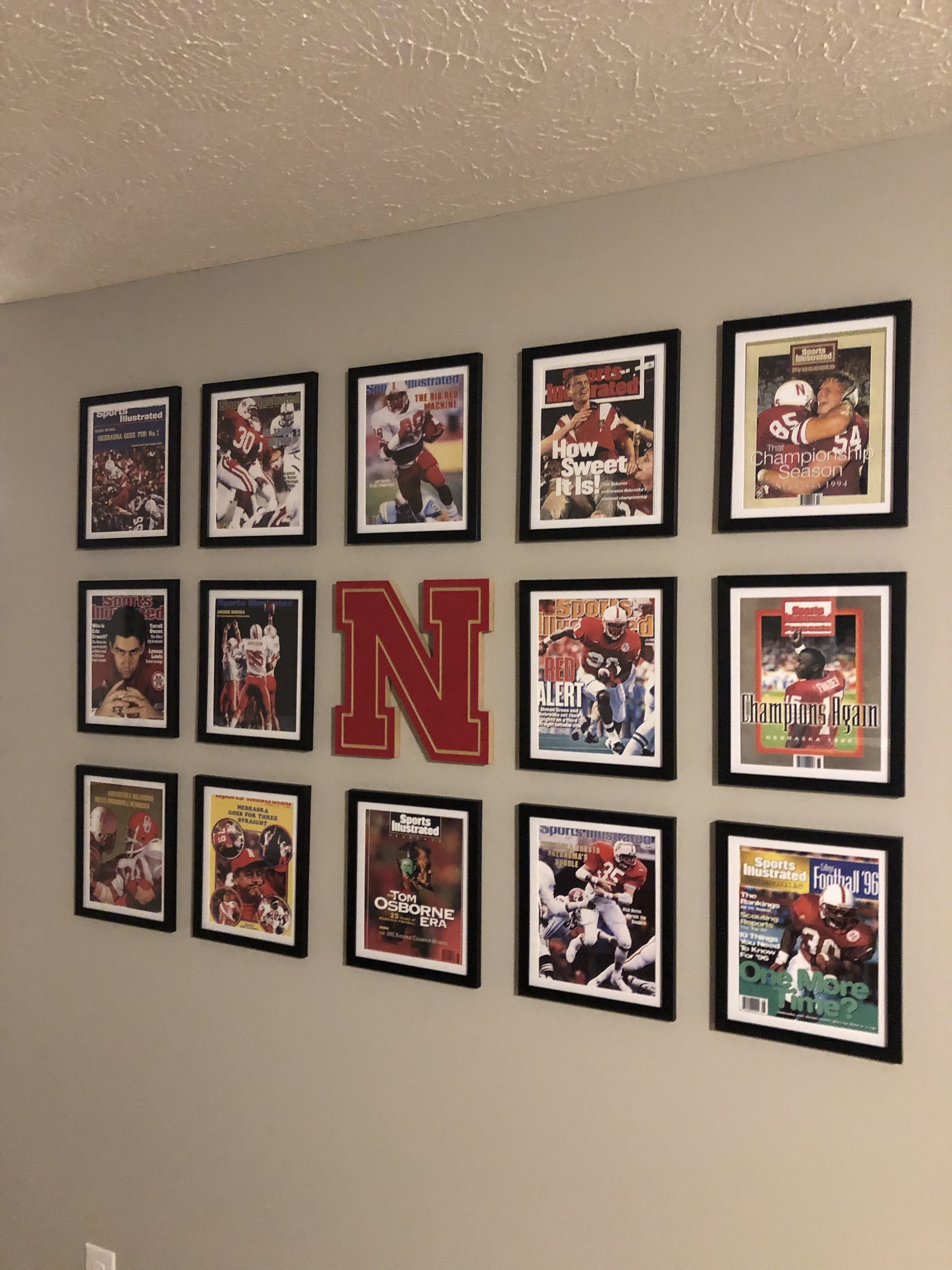 Sports Gallery Wall Man Cave Gallery Wall Sports Room Man Cave