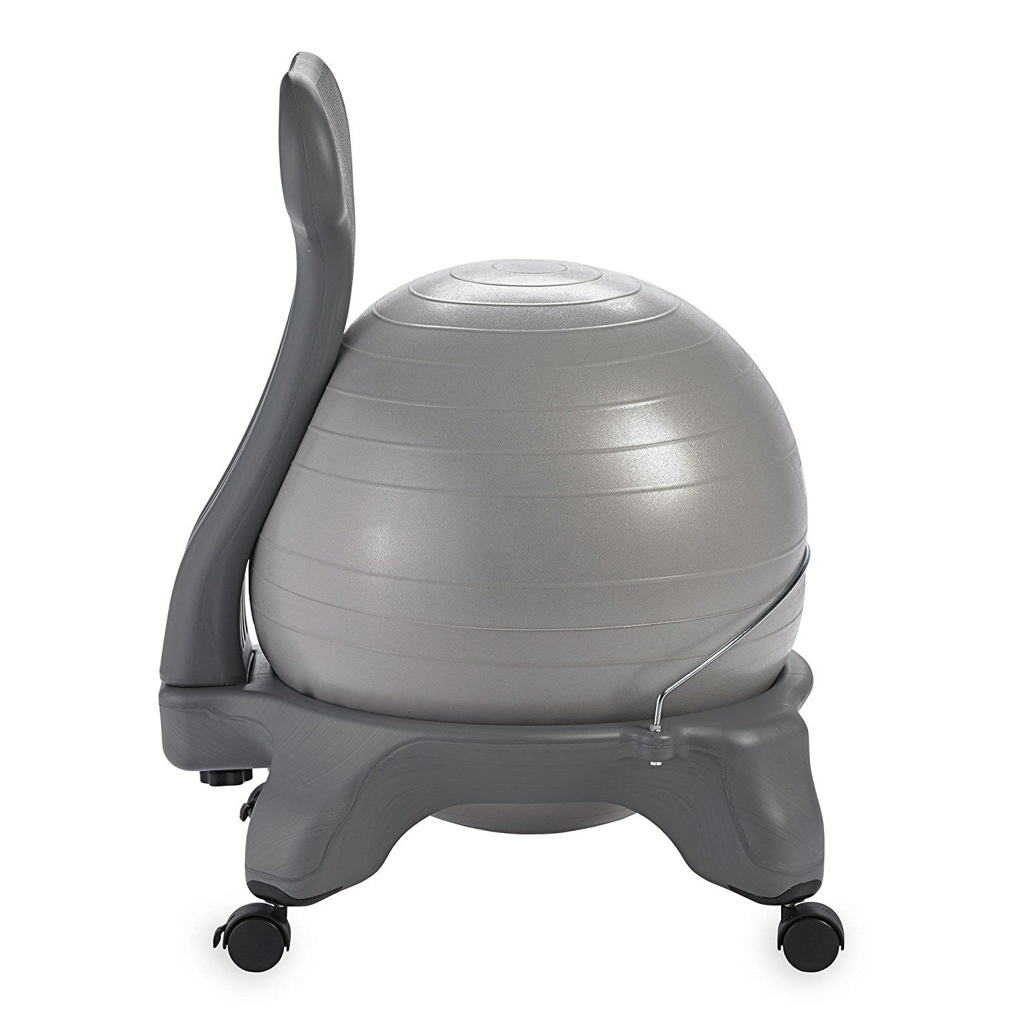Ball Chair Amazon Canvas Covers Australia Com Gaiam Balance Classic Yoga With 52cm Stability Pump Exercise Guide For Home Or Office Cool Grey Sports