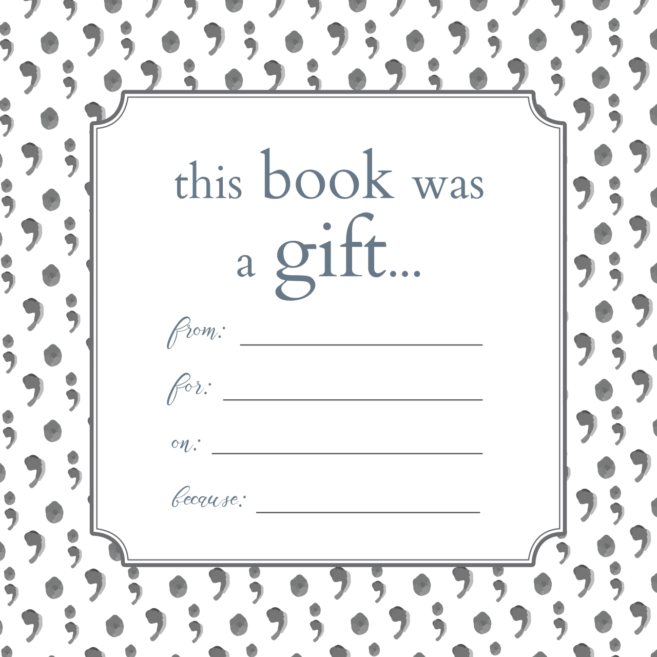 Printable Bookplates For Donated Books Book Plates Book Gifts Printable Books