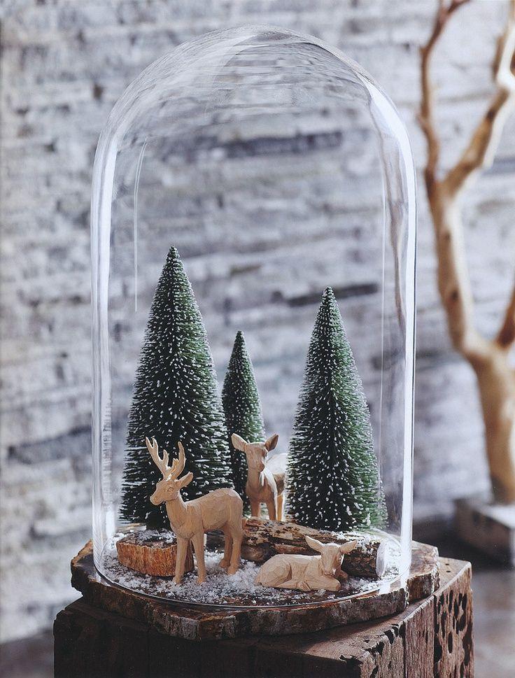 man begegnet ihnen berall und sie passen auch fantastisch ins haus 13 dekoideen mit glasglocken diy bastelideen - Fantastisch Weihnachtsdeko Ideen