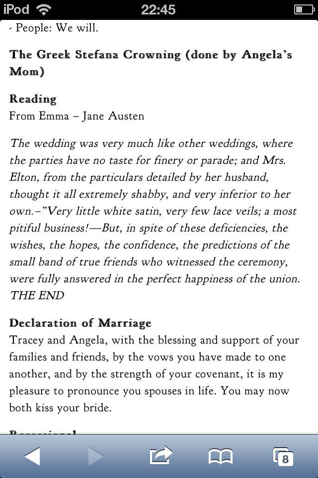 Last paragraph of Emma Jane austen