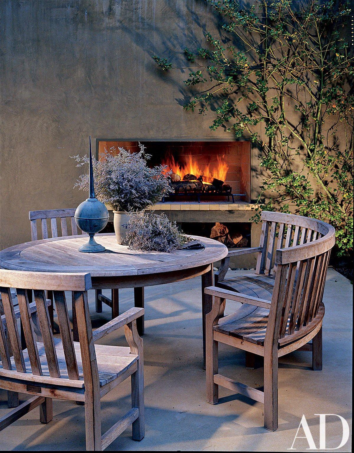 The Kitchen S Terrace Zinc Finial J Et Cie Weatherend Furniture Outdoor Fire