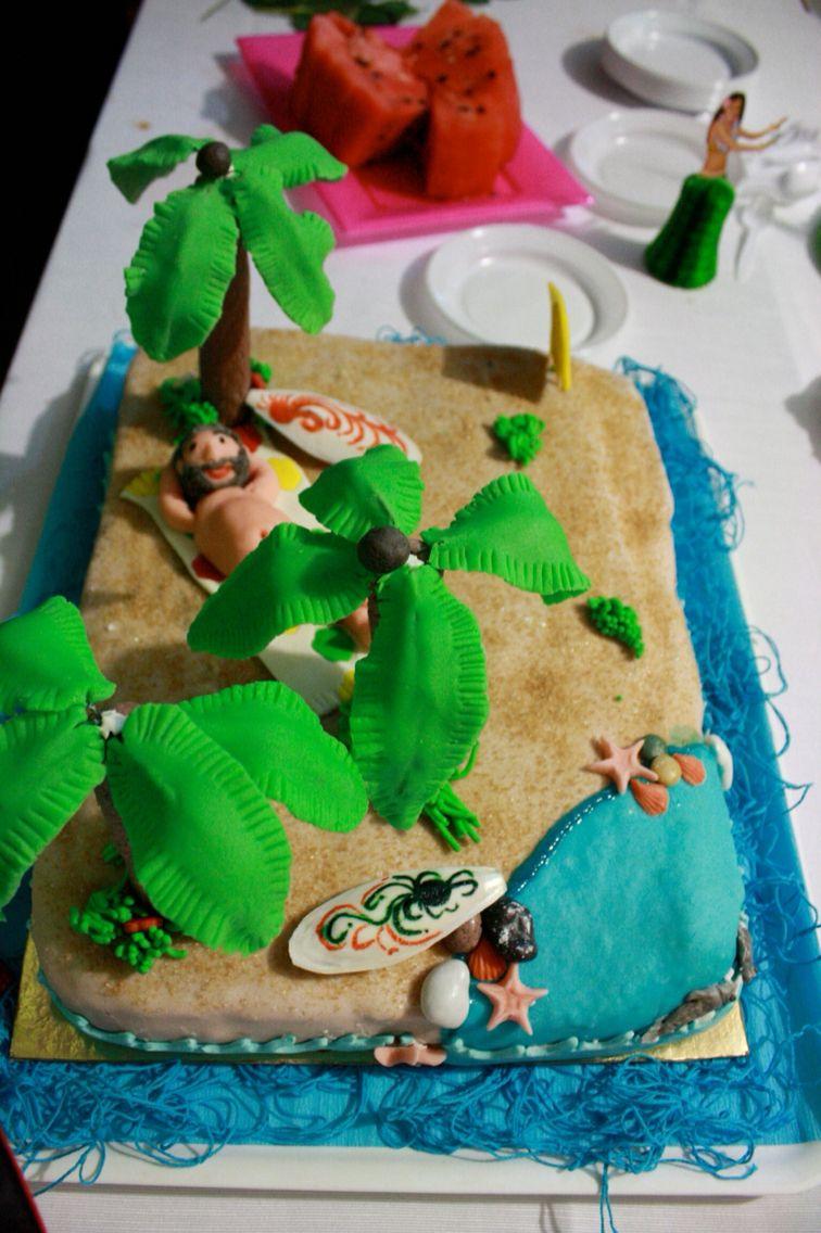 Summer, cake design, island