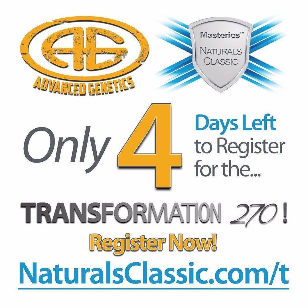 #Repost @naturalsclassic  Only 4 Days Left to Register for the Advanced Genetics Transformation 270 Challenge!  This contest is open to all residents of the Maritime provinces. This is the perfect opportunity to get into the best shape of your life!  Register Now!  http://ift.tt/2tdOU01  #health #fitness #transformation #motivation #agarmy #masteries #weightloss #musclegain #novascotia #newbrunswick #pei #newfoundland #maritimes #cbbf #natural #contestprep #naturalsclassic #Pier21…