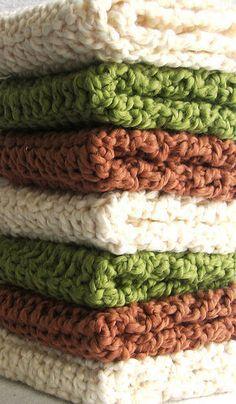 Crochet Washcloths / Dishcloths: How To Crochet A Washcloth
