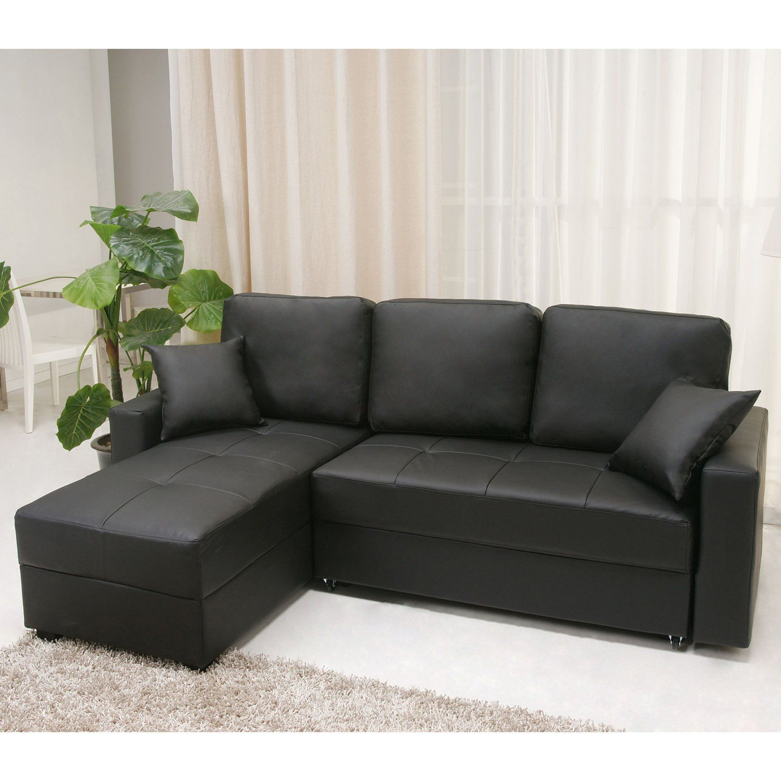 Gold Sparrow Aspen Convertible Storage Sectional Sofa Black ...