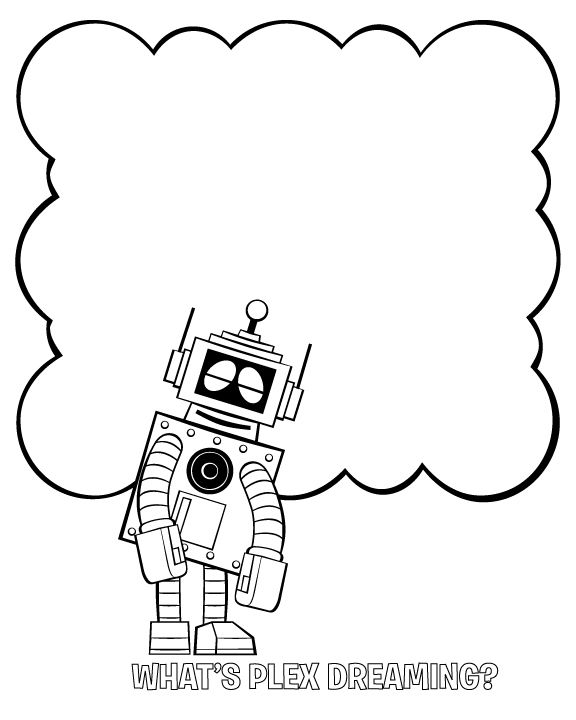Gabba What Is Plex Dreaming Coloring Page