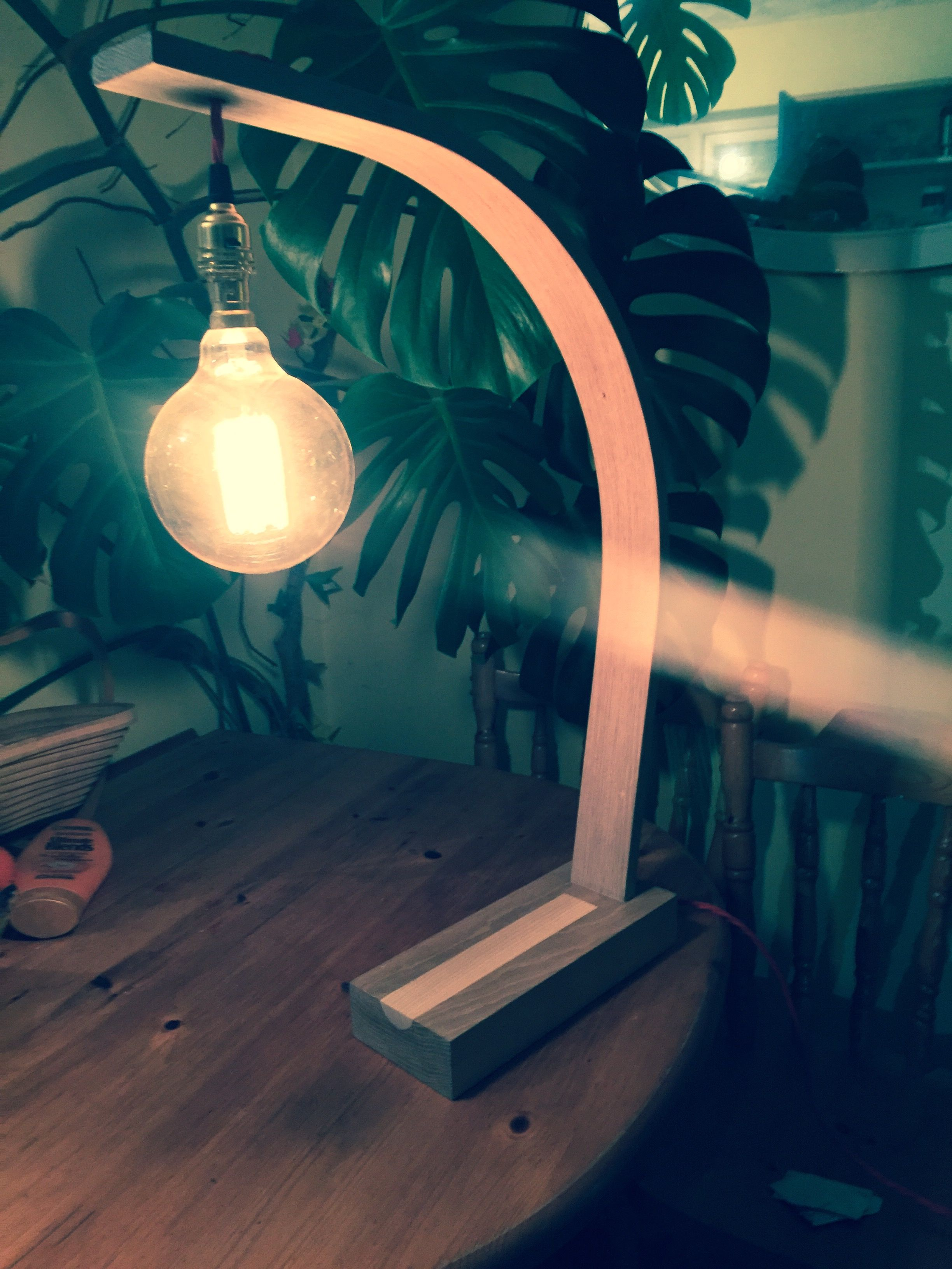 Charming Love This Steam Bent Oak Lamp By Tom Prentice Design ❤️ Great Ideas