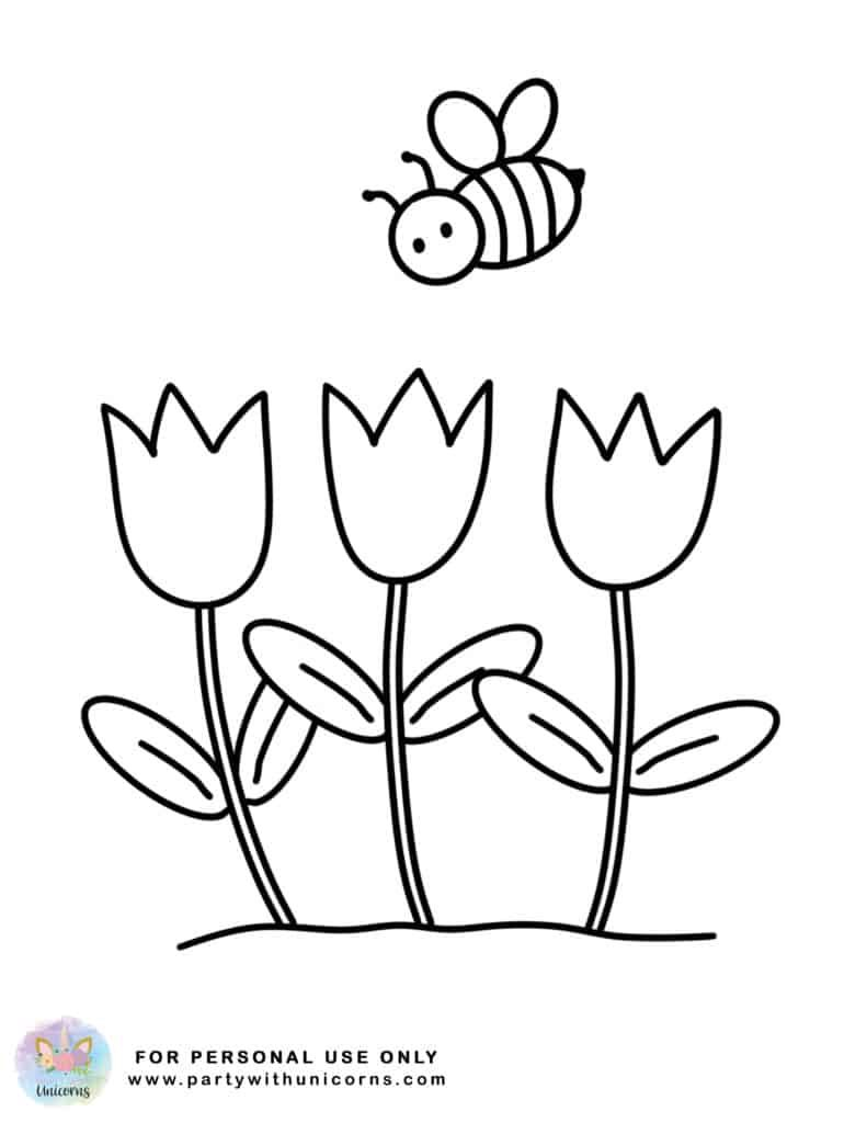 Spring Coloring Pages Free Printable Party With Unicorns Spring Coloring Pages Spring Coloring Sheets Free Printable Coloring Pages