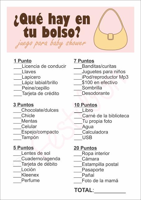 Juegos Para Baby Shower Gratis Mas Juegos De Baby Shower En Www