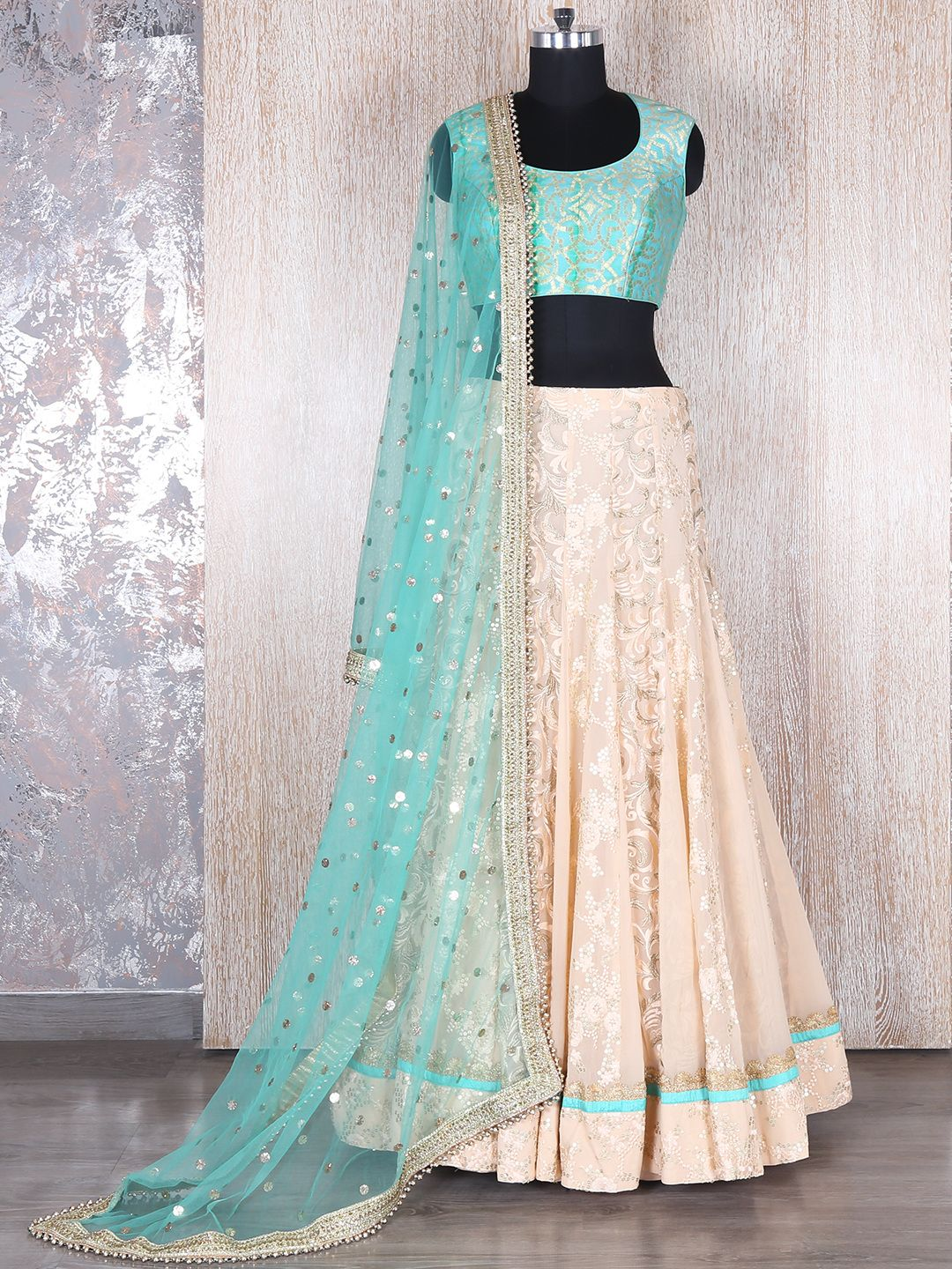 d851c34c06 Sky Blue Georgette Lehenga Choli | Buy wedding wear Lehnga Choli at ...