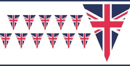 image regarding Printable British Flag referred to as no cost printable union jack flag bunting British celebration