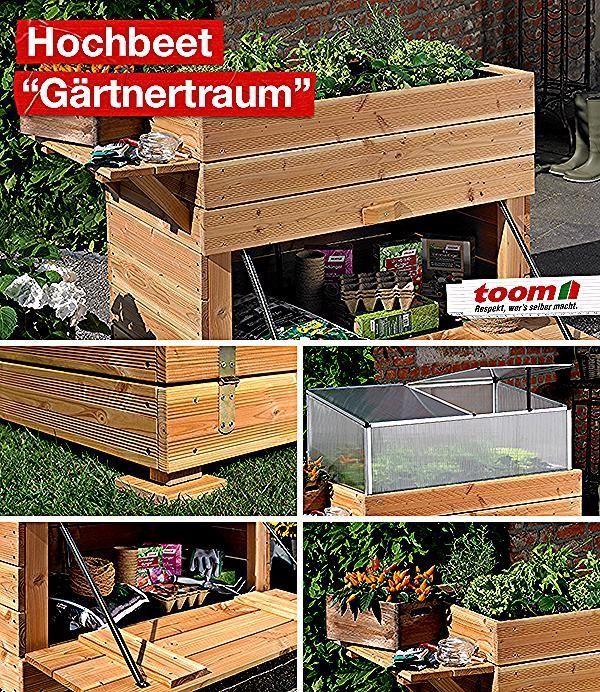Das Selbstgebaute Hochbeet Ist Eine Echte Bereicherung Fur Ihren Garten Oder Balkon Mit Dem Abnehmbaren Anzuchtaufsatz Kannst Du Deine Setzlinge S In 2020 Small Balcony