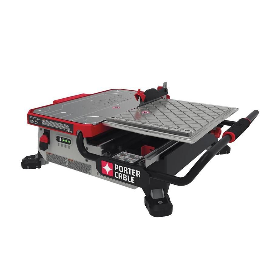 Porter Cable 7 In 0 7 Tabletop Sliding Table Tile Saw Pcc780la Sliding Table Porter Cable