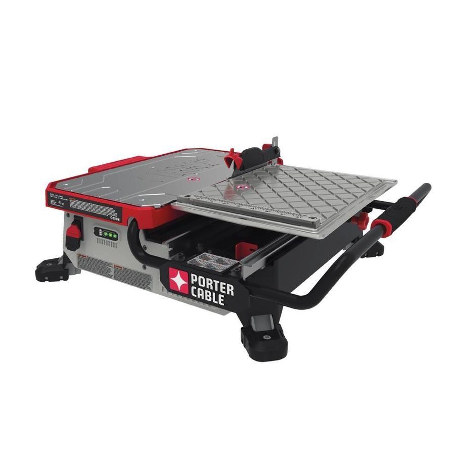 Porter Cable 7 In 0 7 Tabletop Sliding Table Tile Saw Pcc780la
