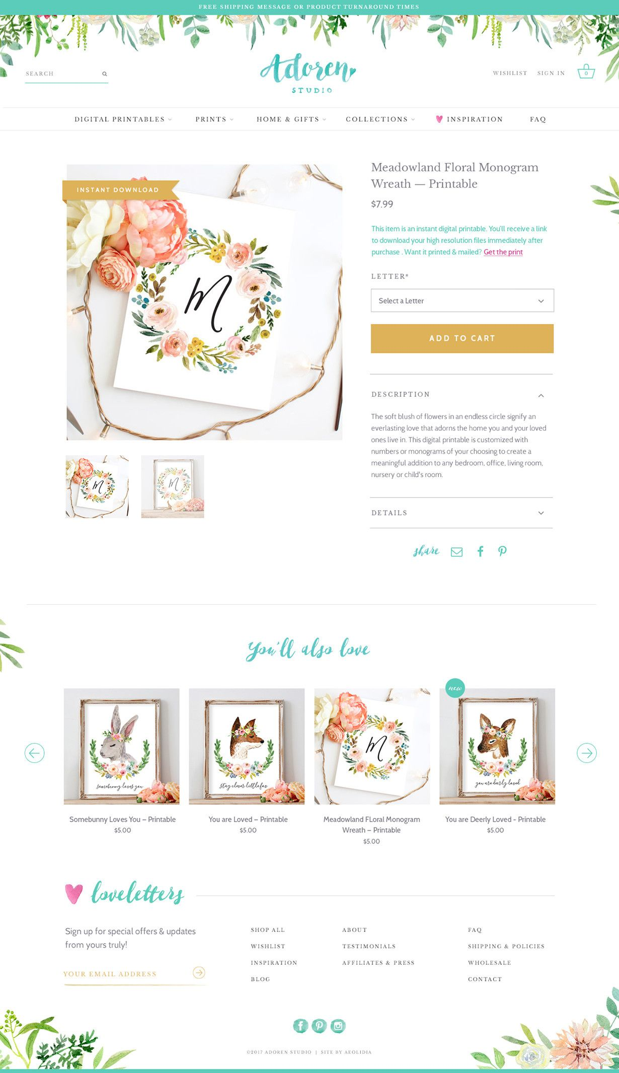 Shopify Website Design and Branding Case Study: Adoren Studio