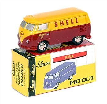 Schuco Piccolo 01322 - Volkswagen Kastonwagen - 'Shell'  Yellow