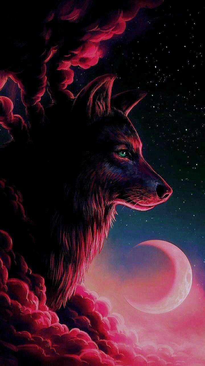 Fond D Ecran Loup Fond D Ecran Loup Peinture De Loup Dessin Animaux Mignons