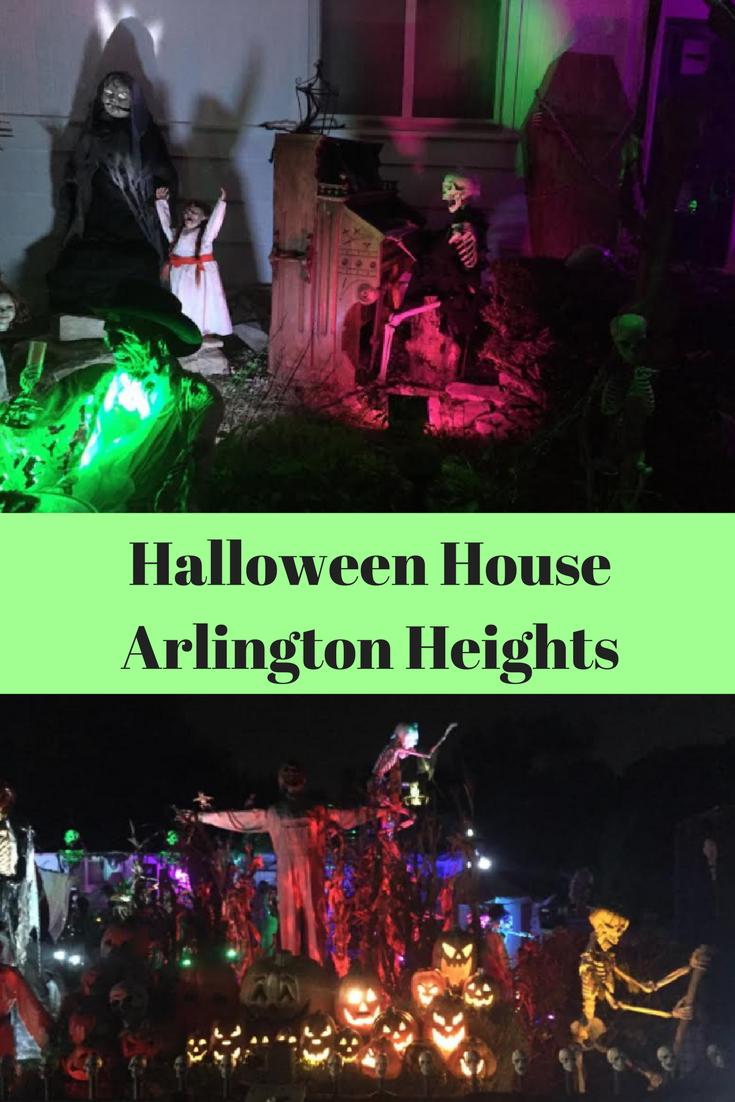 Halloween House in Arlington Heights, Illinois (With