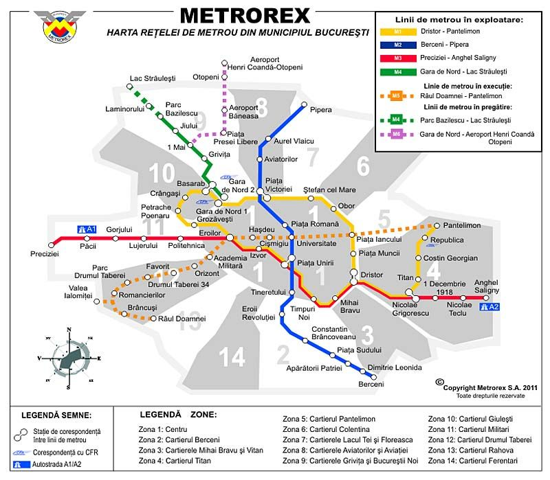 Bucharest Metro Is The Most Efficient And Cheapest Way To Get