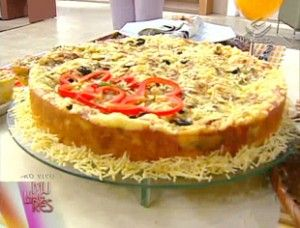 torta suflê de berinjela
