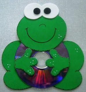 Recycled CD crafts ideas for kids - Art & Craft Ideas #artandcraftusingcd #recycledcd