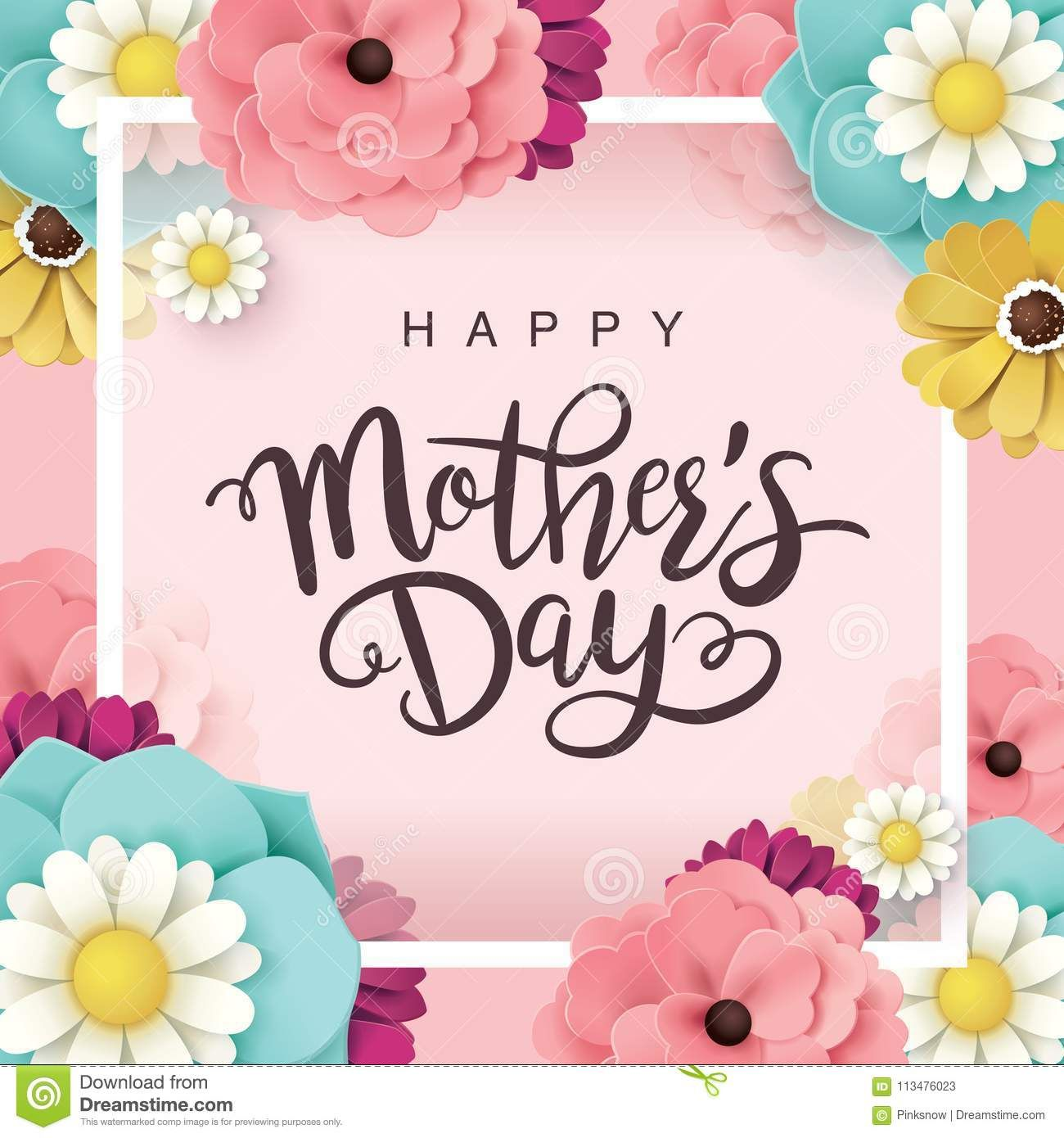 Happy Mother S Day Greeting Card With Beautiful Blossom Flowers Happy Mothers Day Wishes Mother Day Wishes Mother S Day Gift Card