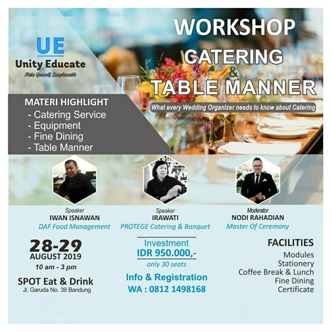What Every Wedding Organizer Needs To Know About Catering Menjadi Wedding Organizer Sudah Tentu Har Catering Equipment Catering Services Master Of Ceremonies