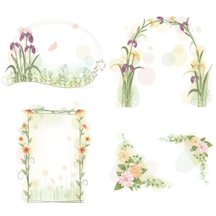 frame fleurs | Vector Frames Related Keywords & Suggestions - Vector ...