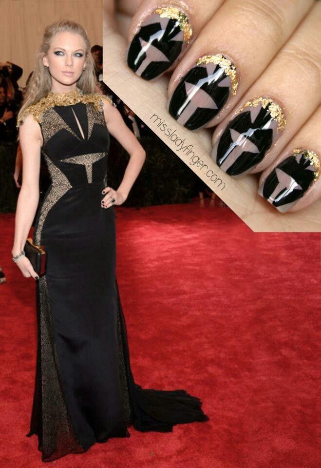 So pretty! | Met gala, Taylor swift nails, Met gala 2013